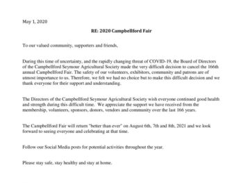 thumbnail of Campbellford Fair COVID-19 Letter